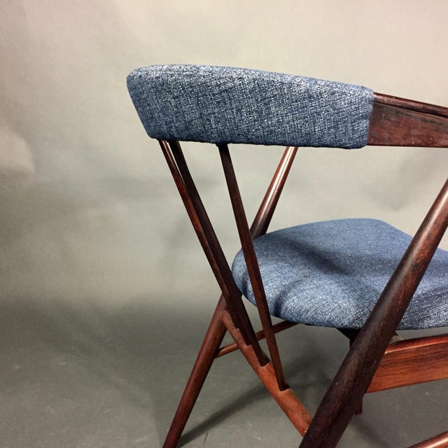Wood Rosewood Spindle-Back Armchair, Helge Sibast, Denmark 1950s For Sale - Image 7 of 10