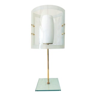Mid 20th Century Beveled Table Lamp For Sale