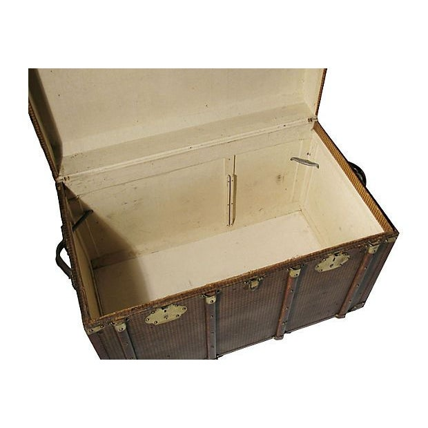 Early 20th Century French Steamer Trunk For Sale - Image 5 of 7