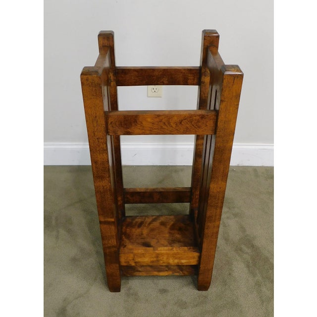 Wood Mission Style Antique Umbrella Stand For Sale - Image 7 of 13