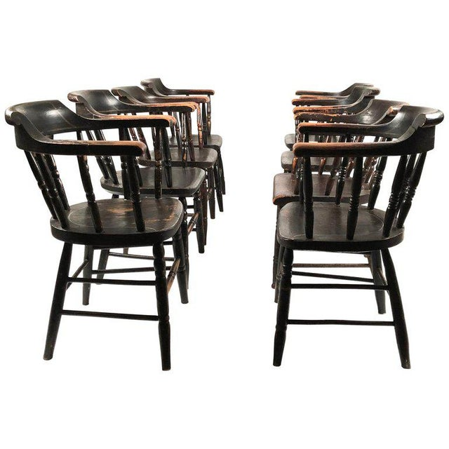 Set of 8 Matched Captain's Dining Chairs For Sale - Image 13 of 13