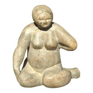 Figurative Stone Sculpture of Nude Woman For Sale