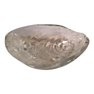 Textured Glass Shell Dish For Sale
