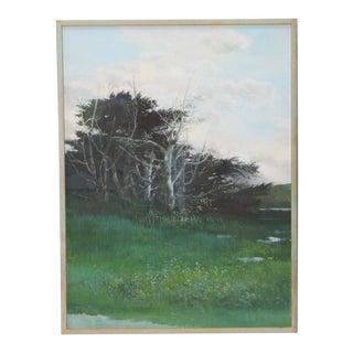 "Martha Borge ""After Rain in Marin"" Acrylic on Board C.1990s"