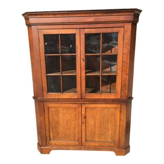 19th Century 12 Pane Corner Cupboard