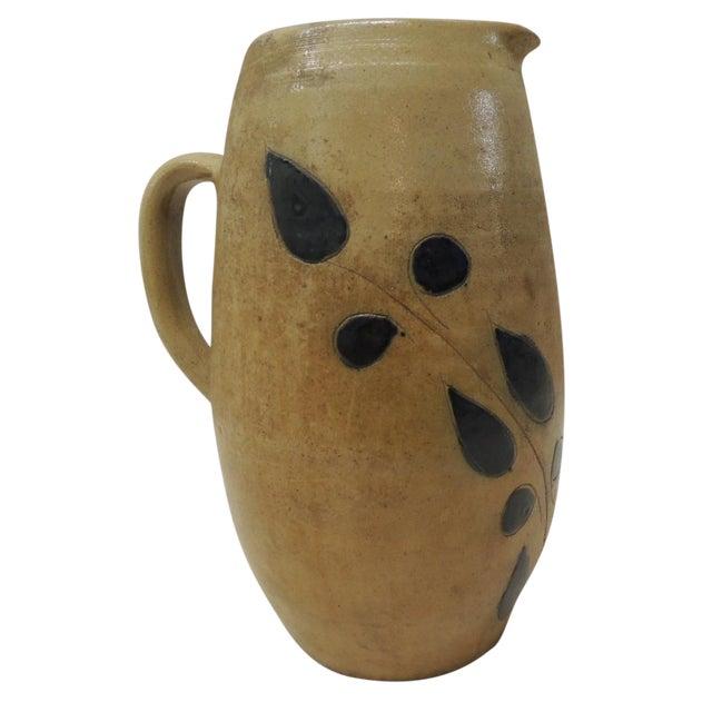 Vintage Glazed Stoneware Water Pitcher - Image 1 of 4