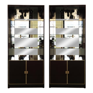 Pair of Lacquered China Cabinets Vitrines by Maison Jansen For Sale