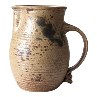 Signed Studio Pottery Pitcher Ca 1979 For Sale