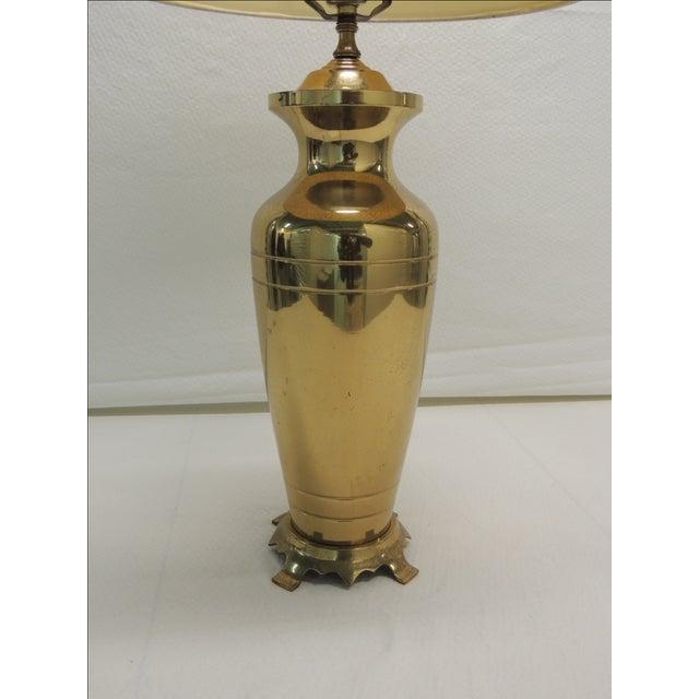 Hollywood Regency Brass Ginger Jar Table Lamp - Image 4 of 5
