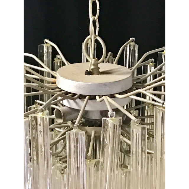 Transparent Venini Crystal Chandeliers - A Pair For Sale - Image 8 of 11