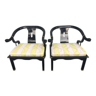 1970s Vintage James Mont Century Style Armchairs - A Pair For Sale