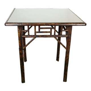 1950s Faux Bamboo Side Table For Sale