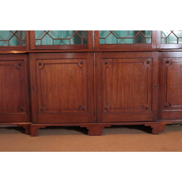 Fabric Late 18th Century George III Mahogany Breakfront For Sale - Image 7 of 13