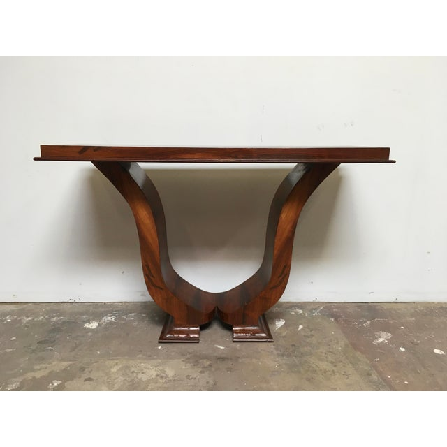 Burnt Umber Art Deco Console in Rosewood For Sale - Image 8 of 12