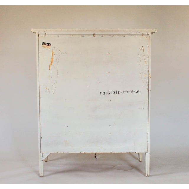White Thomasville Faux Bamboo Chest of Drawers For Sale - Image 8 of 11