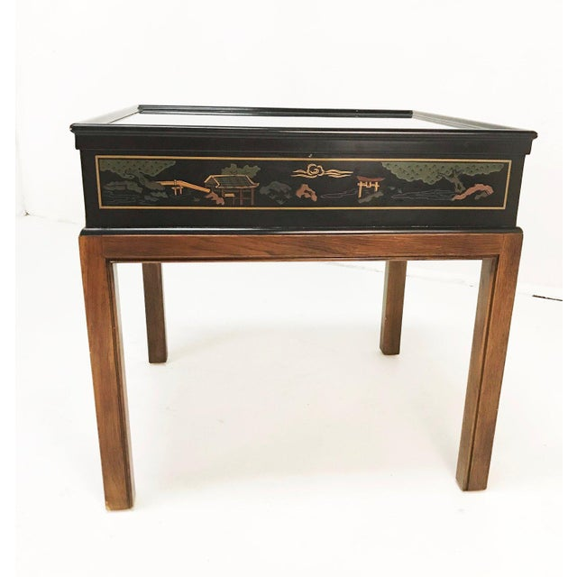 Drexel Heritage Chinoiserie Chippendale Side Table For Sale - Image 9 of 12