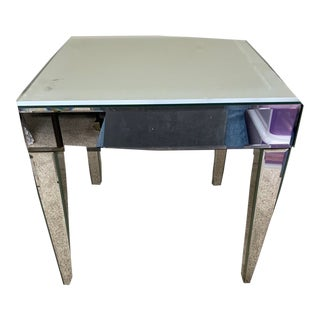 Mirrored Four Leg Side Table For Sale
