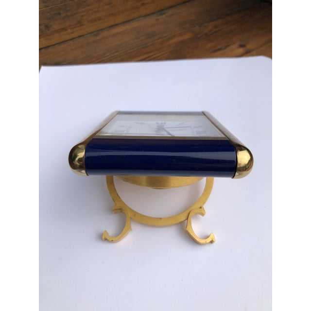 Brass Cartier Paris Travel Clock For Sale - Image 8 of 13