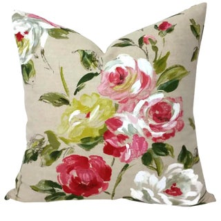 Manuel Canovas Camilla in the Color Ete Pillow Cover For Sale