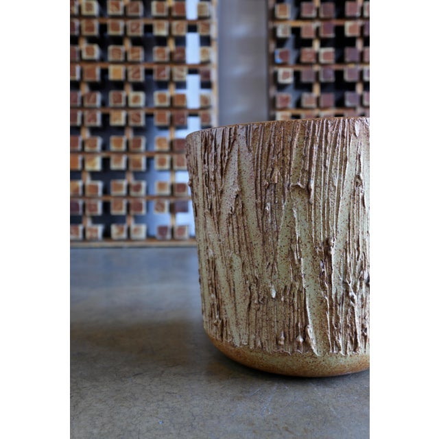 "Architectural Pottery David Cressey "" Scratch "" Texture Planter for Architectural Pottery For Sale - Image 4 of 9"