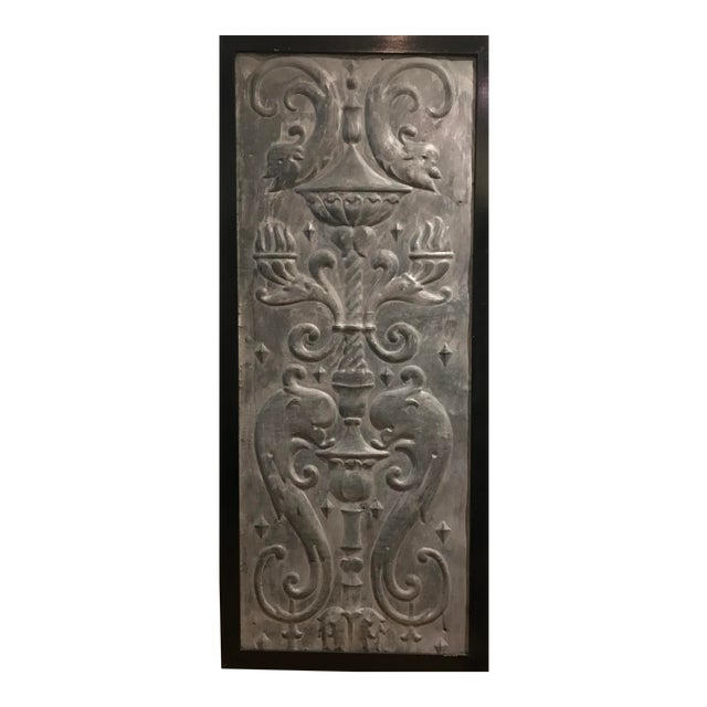 Mid 19th Century Zinc Architectural Panel For Sale