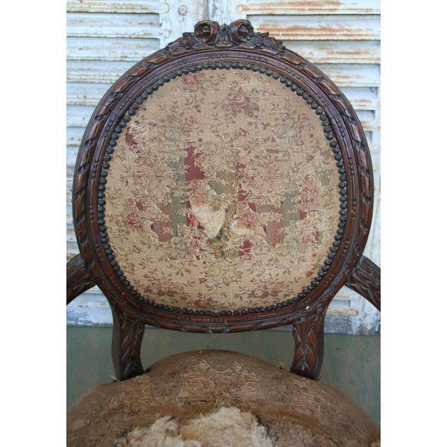 Louis XVI Style Armchair - Image 7 of 9