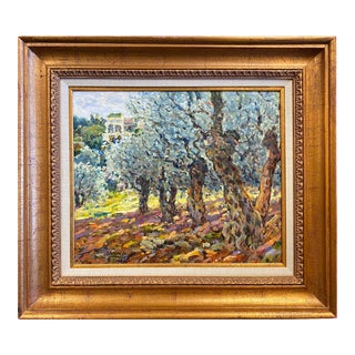 Original Custom Framed Oil Painting by George Malva For Sale