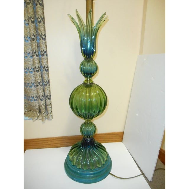 Murano Glass Lamp by Barovier Toso - Image 3 of 8