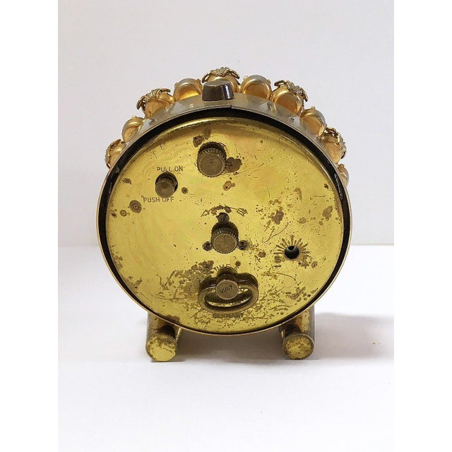 1930s Vintage Phinney-Walker Bejeweled Alarm Clock - Image 5 of 8