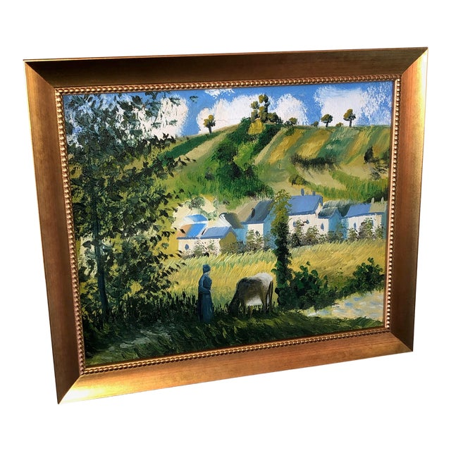 Vintage French Painting Replica of Camille Pissarro For Sale