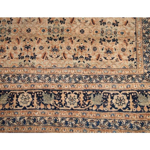 Persian 1880s Handmade Antique Persian Tabriz Hajalili Rug 4.2' X 6.5' For Sale - Image 3 of 13