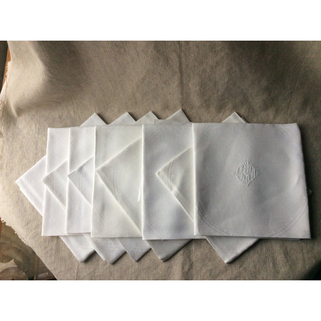 1900s French Linen Napkins - Set of 10 For Sale - Image 10 of 13
