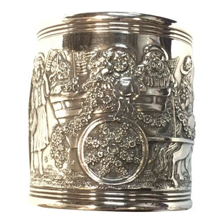 Circa 1909 Antique Tiffany & Co Kate Greenaway Sterling Silver Napkin Ring For Sale