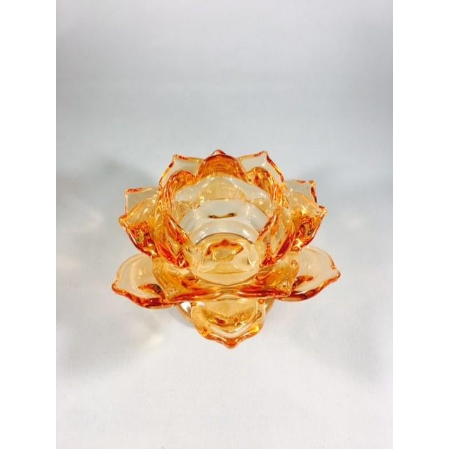 A&B Home Glass Flower Candle Holder - Image 4 of 4
