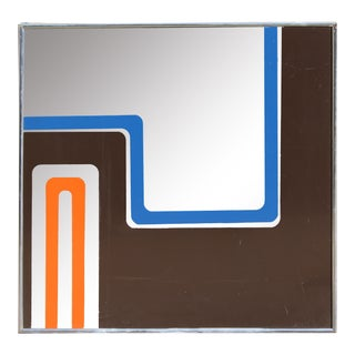 1970s Op Art Mirror by Greg Copeland
