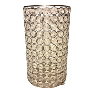 Vintage Late 20th Century Crystal Tea Light Candle Holder For Sale
