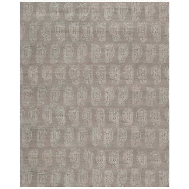 2010s Stark Studio Rugs Contemporary Oriental Bamboo Silk Rug - 12' X 15' For Sale - Image 5 of 5