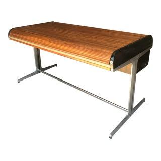 George Nelson Herman Miller Walnut Rolltop Desk For Sale