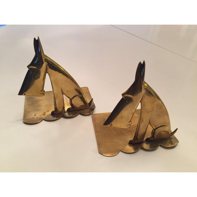 Brass Hagenauer signed schnauzer bookends For Sale - Image 7 of 7