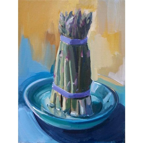 """Paula McCarty """"Asparagus"""" Contemporary Painting For Sale"""