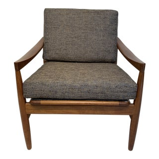 Mid-Century Modern Danish Solid Teak Lounge Chair by Skobvy For Sale
