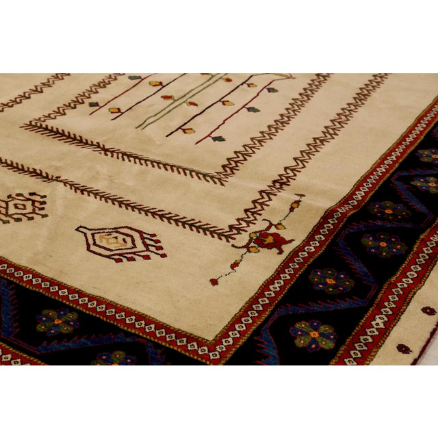 Persian 1960s Persian Area Rug Gabbeh Design For Sale - Image 3 of 5