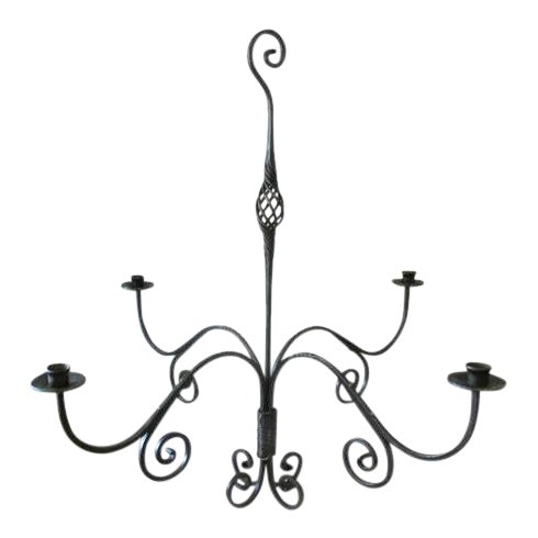 Iron hand forged candelabra chandelier chairish aloadofball Image collections