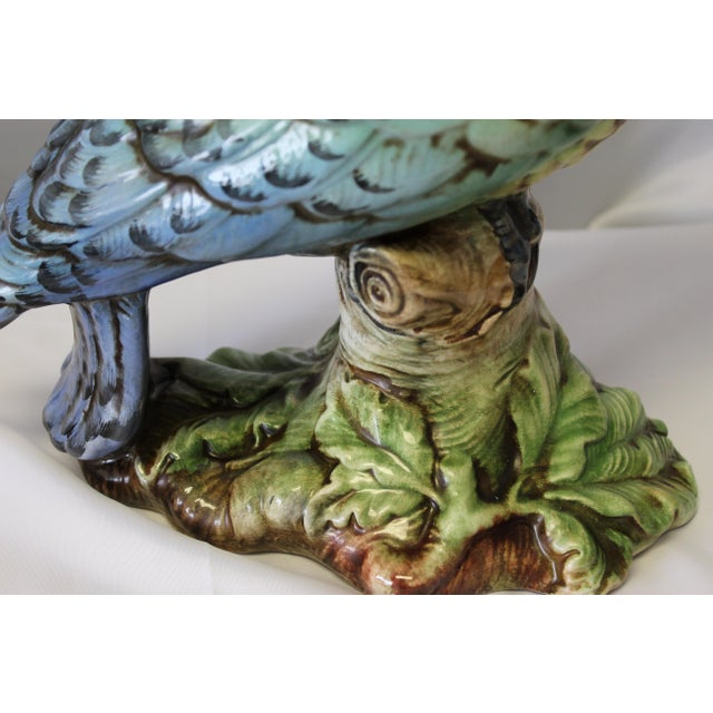Vintage Italian Hand Painted Cockatoo Parrot Figurine For Sale In Dallas - Image 6 of 9