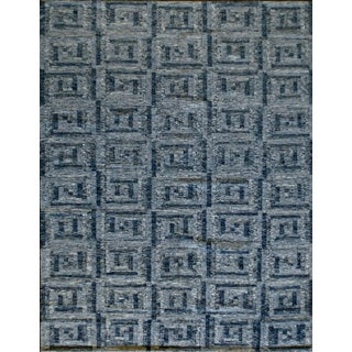 Swedish Kilim Style Wool Flat-Weave Rug For Sale