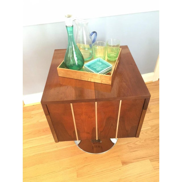 Lane Mid-Century Swivel Bar Cart - Image 7 of 7