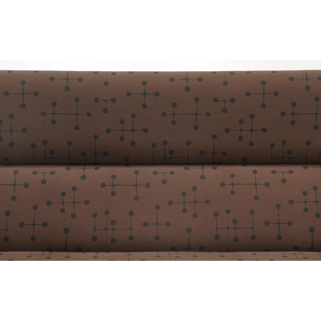 Charles and Ray Eames Sofa Compact for Herman Miller in Eames Dot Pattern Fabric For Sale In Kansas City - Image 6 of 10