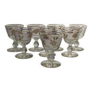 Vintage Mid-Century Libbey Glass Cocktail Stemware - Set of 8 For Sale