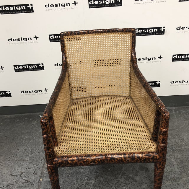 Dessin Fournir Regency Chinoiserie Bamboo Caned Arm Chair For Sale In San Francisco - Image 6 of 10