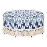 Image of Casa Cosima Istanbul Cocktail Ottoman in Ikat For Sale
